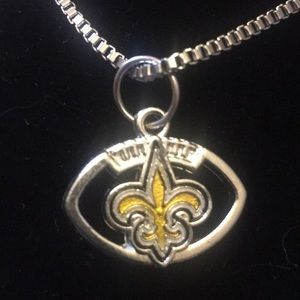 Jewelry - New Orleans Saints Charm Necklace Football NWT